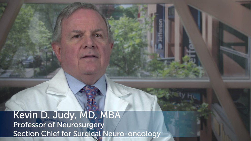 How is a glioma treated? Jefferson #neurosurgeon Dr. Kevin Judy shares: http://JeffersonHealth.org/BrainTumor.