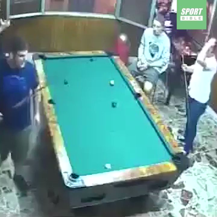 We've all got one friend who plays pool like this...
