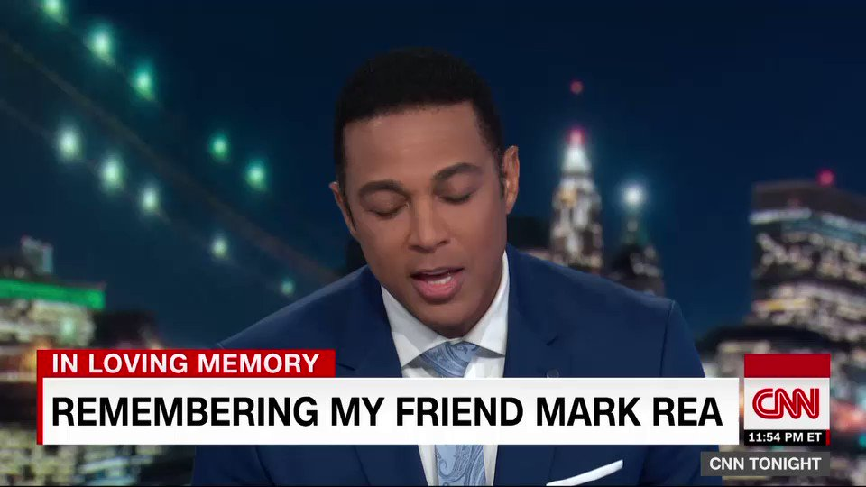 Tonight on the show, @DonLemonCNN remembers one of his oldest friends, Mark Rea, who was laid to rest today. So long, my kind and generous and crazy friend. Well soon see you on the other side. We love you.