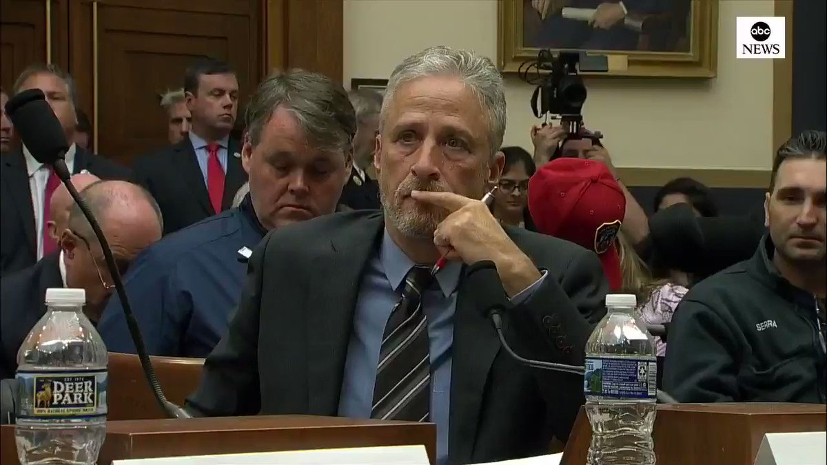 Your indifference cost these men and women their most valuable commodity: time. Jon Stewart receives a standing ovation from 9/11 first responders after slamming lawmakers for failing to fund programs providing healthcare to the first responders abcn.ws/2Tk3IrO