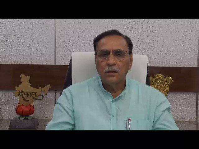 Gujarat CM Shri @vijayrupanibjp informing about the preparedness of the State Govt to combat #CycloneVayu that is likely to affect 10 districts of Saurashtra and Kutch, while urging people to stay alert and not to panic