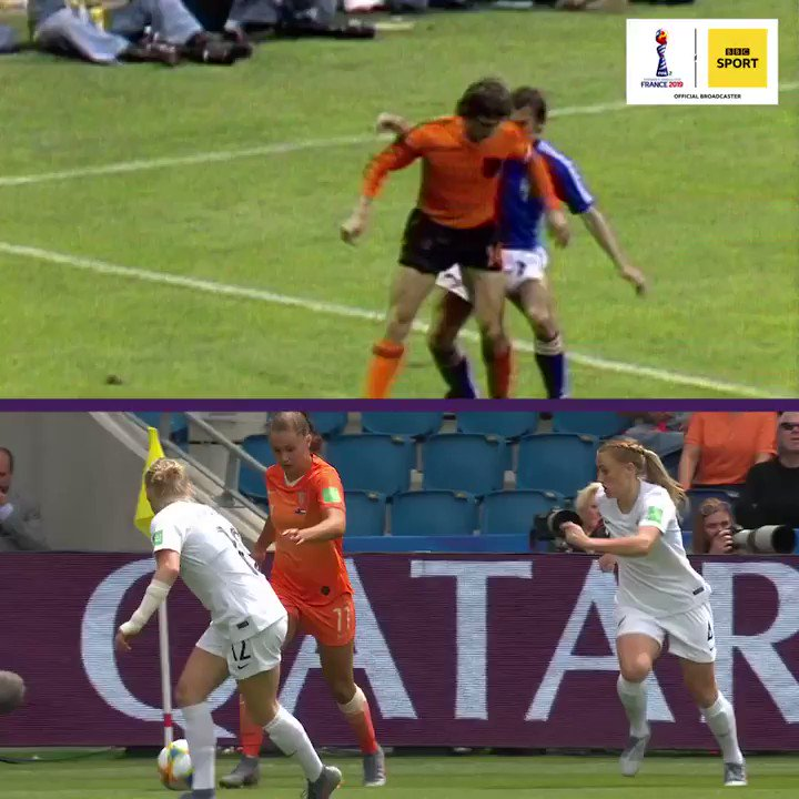 Lieke Martens channelled her inner Johan Cruyff and we cant get enough of it 🤩 #NED #FIFAWWC #ChangeTheGame