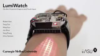 LumiWatch: on arm projected graphics and touch input by @CarnegieMellon |  #UX #IoT #InternetOfThings #ConnectedDevices #SmartWatch #SmartTech #Wearables #Technology #DigitalTransformation #Innovation #Digital #RT  Cc:@evankirstel @ipfconline1 @SpirosMargaris