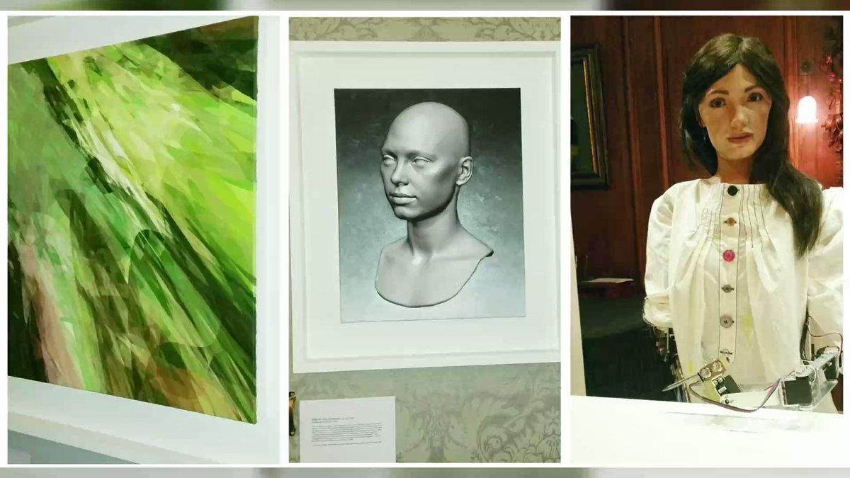 RT @FC_actu Le premier artiste robot expose à Oxford. Elle a les traits d'une jeune femme brune aux yeux grands ouverts. Mais ses bras et son esprit sont ceux d'un robot.  Son nom : Ai-Da.   Reportage  https://t.co/Qijujy9A9C