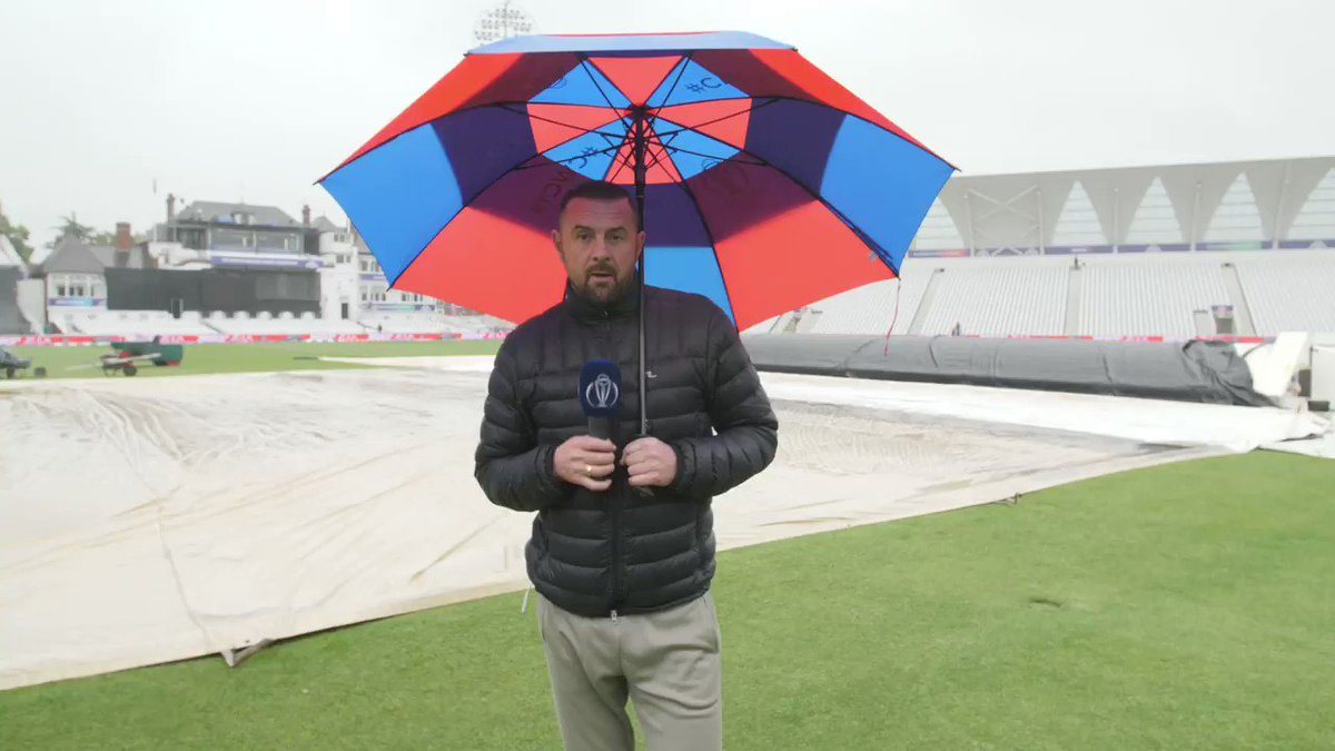 It's been 🌧️ in Nottingham, but the clouds cleared enough for @Sdoull to get a glimpse of India's plans for their line-up against New Zealand. #INDvNZ   #CWC19   #TeamIndia   #BACKTHEBLACKCAPS