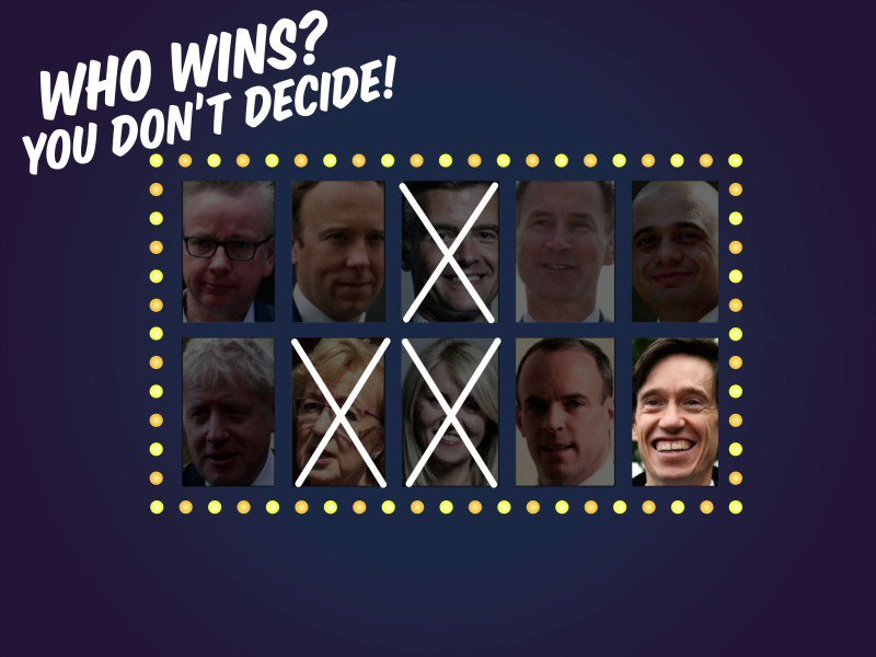 Three down, seven left in the race. Who will be our next Prime Minister? Sorry, you don't get to decide!