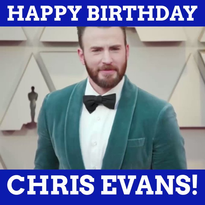 Happy birthday to our Captain America, Chris Evans!