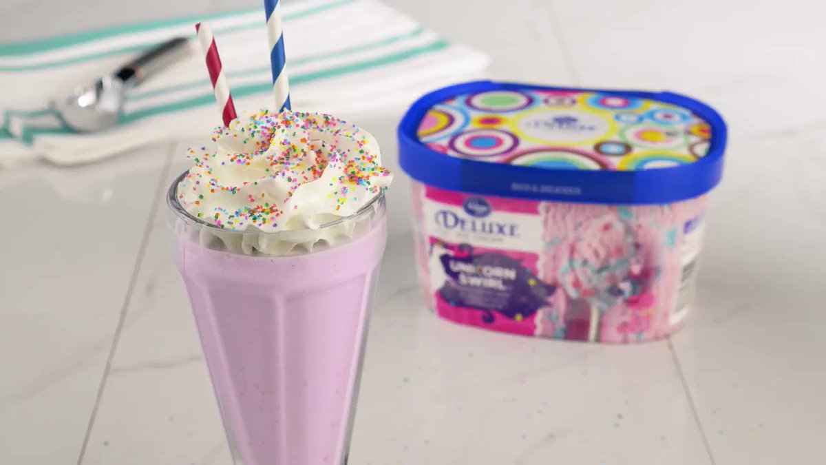 Follow the rainbow and celebrate #PrideMonth by sipping on this magical Unicorn Swirl Shake filled with color and sweet flavor! 🦄 Grab more delicious and fun Pride recipes here! 🌈  http://spr.ly/6018EUJas