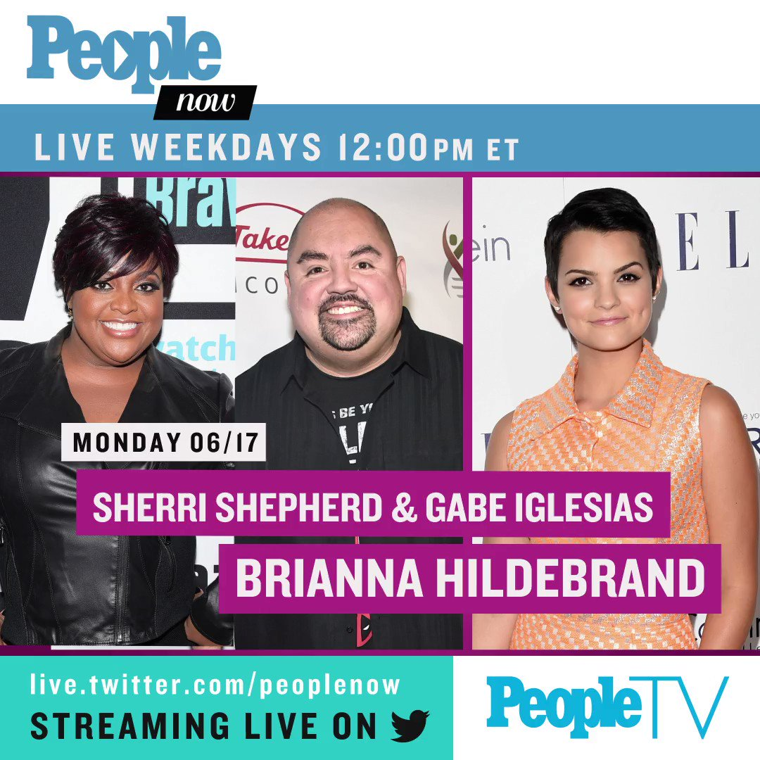 Coming up next week on #PeopleNow: @SherriEShepherd, @fluffyguy, @ShepRose, @TylerRichMusic, @Roselyn_Sanchez, @MrTonyHale, and @KimRaver! Watch — Weekdays 12pm ET/9am PT: https://live.twitter.com/peoplenow