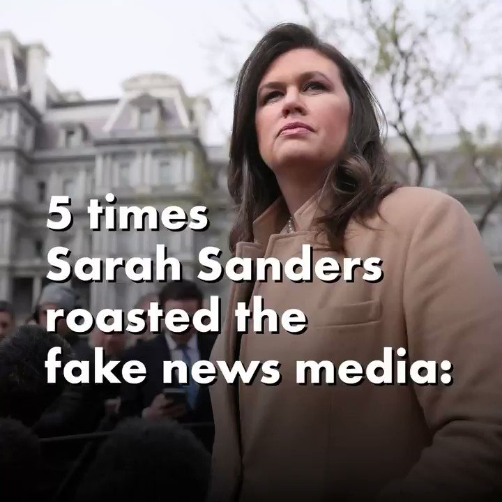 Image for the Tweet beginning: Sarah Sanders was FIRE