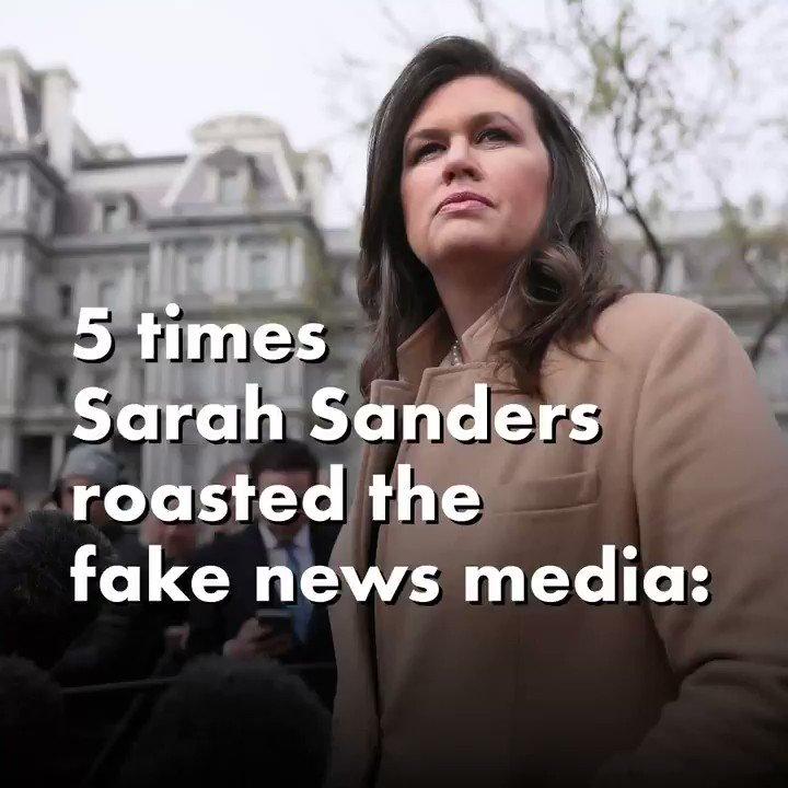 RT prageru: 🔥🔥 Don't mess with presssec Sarah Sanders.   Here are 5 moments the outgoing press secretary roasted the fake news media.  #pragerforce #prageru #prageruniversity #prager #dennisprager