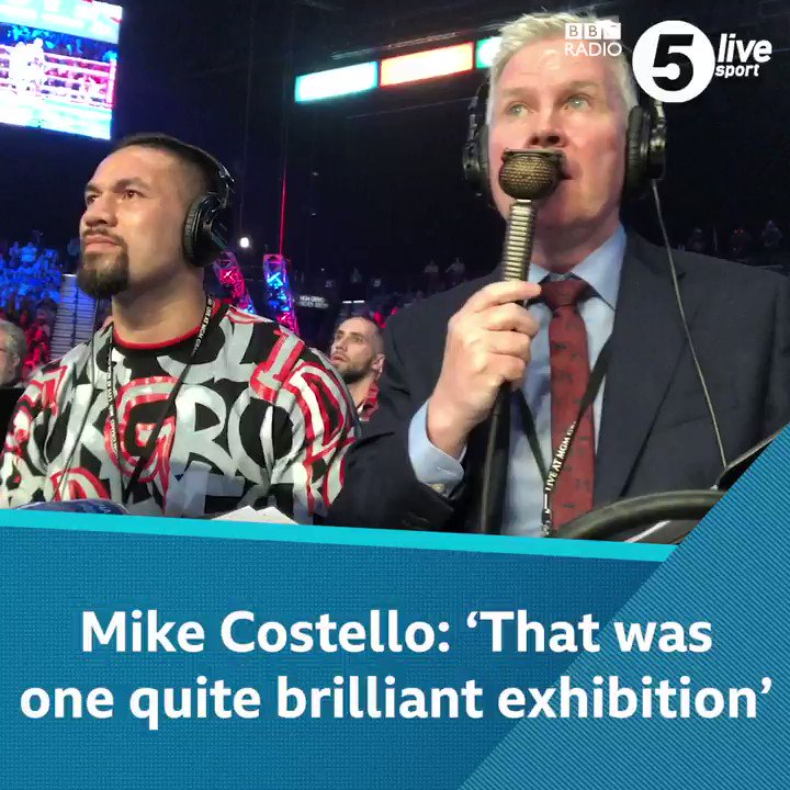 Need something to wake you up on a dreary Monday morning? 🛌We've got just remedy 👋Watch commentary's GOAT, Mike Costello, call @Tyson_Fury's second round victory against Tom Schwarz 💪Listen to the Costello and @bigdaddybunce podcast 👇: 📲🥊: https://bbc.in/2rR4cGY