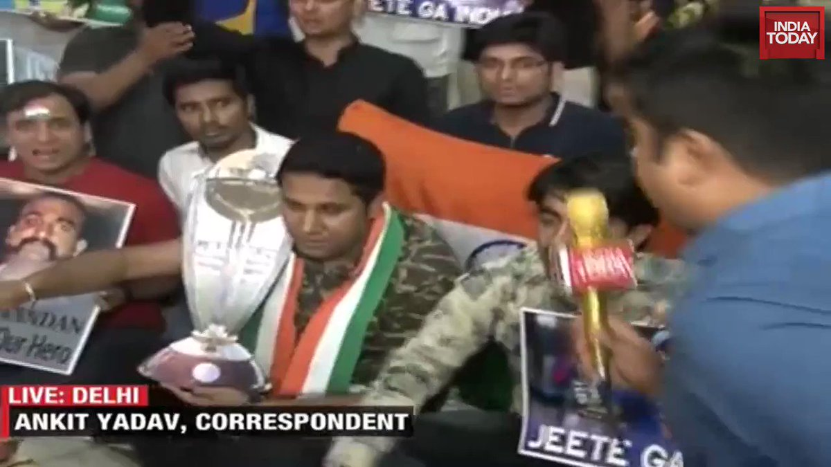 For Indian fans, the #IndiaVsPakistan match is not just a game, and this video proves it.#ITVideo #CWC19 #WorldCupOnIndiaToday (@Ankit_news)More videos: http://bit.ly/it_videos