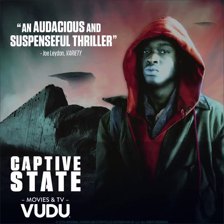 """""""An audacious and suspenseful thriller.""""- Variety.  #CaptiveState Now available on Vudu. https://t.co/mqDqdIhKID"""