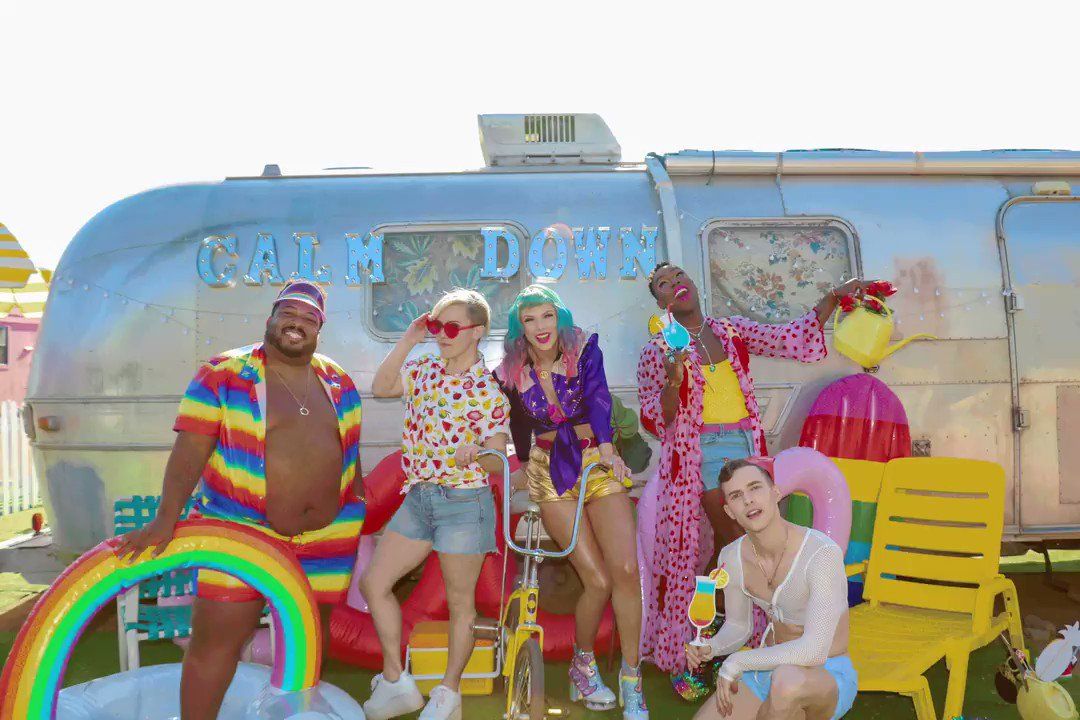 The #YNTCDmusicvideo is out! First, I want to say that my co-stars in this video are AMAZING. Please celebrate by supporting their work, following them, and going to see them perform. I'm SO grateful and SO EXCITED I ACTUALLY DO NEED TO CALM DOWN.🍹http://taylorswift.lnk.to/YNTCD/youtube