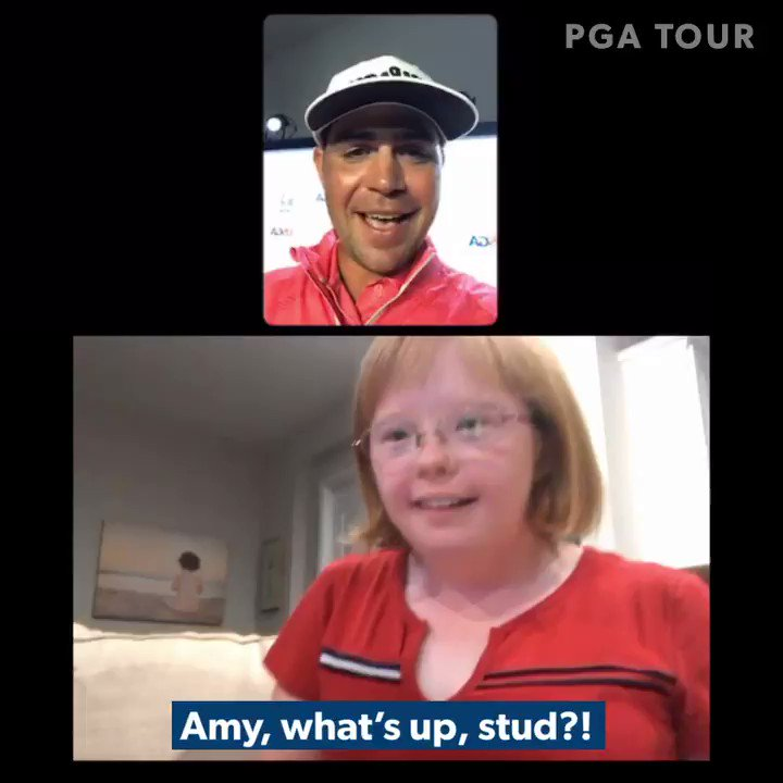 """""""I used your positive energy.""""  On FaceTime after his U.S. Open win, @GaryWoodland was congratulated by his No. 1 fan @AmyGolfsNDances. ❤️  #LiveUnderPar"""