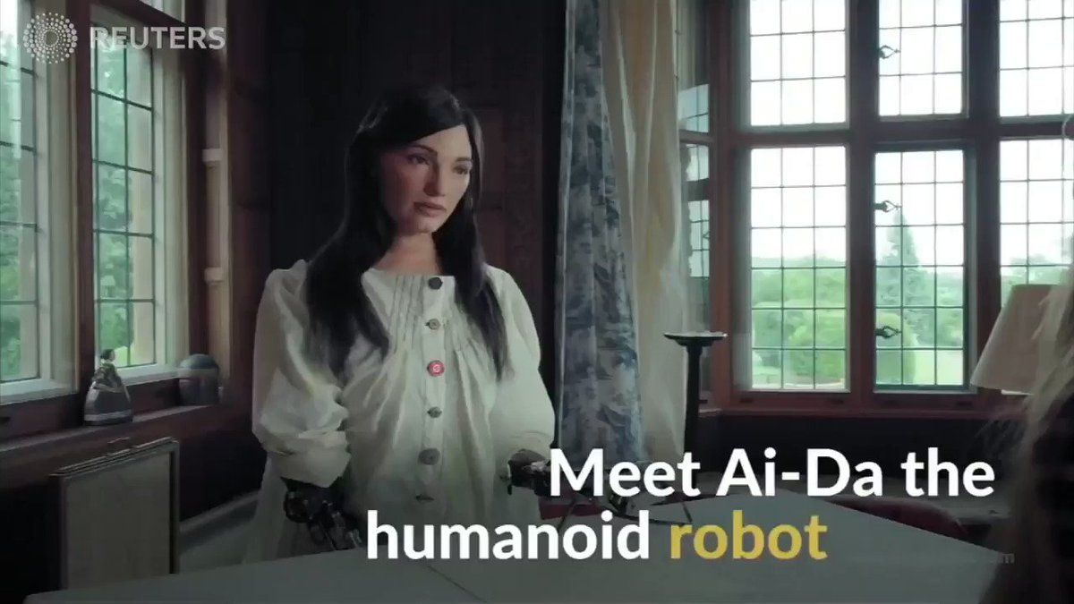 ICYMI: Ai-Da looks like an average human. But the beeping from her bionic arm gives her away - she's a robot. More in this week's tech playlist https://reut.tv/2B5rCfA via @ReutersTV