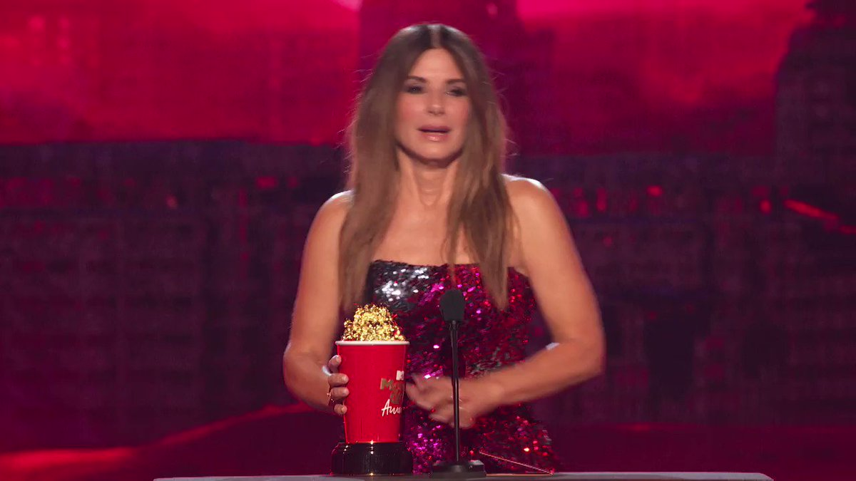 Sandra Bullock delivers touching love letter to her kids at MTV Movie & TV Awards
