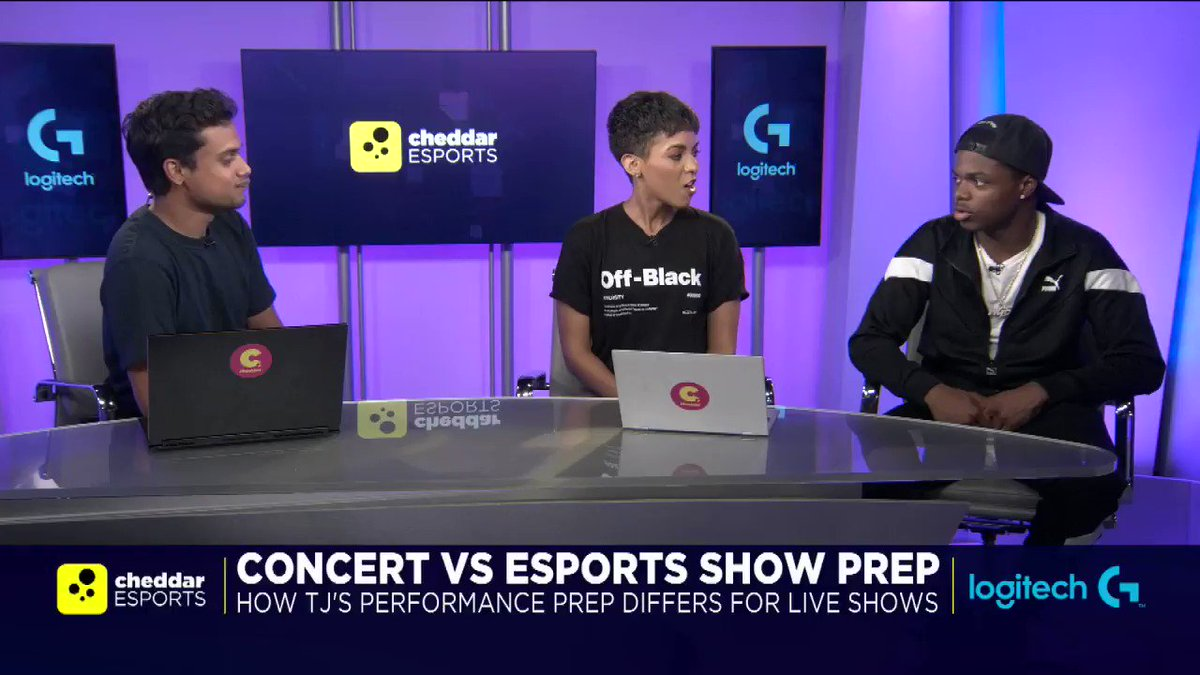 .@DefJam artist, @TjPorter, says he has begun streaming video gameplay after watching his younger brother build up a following on @Youtube. #CheddarEsports