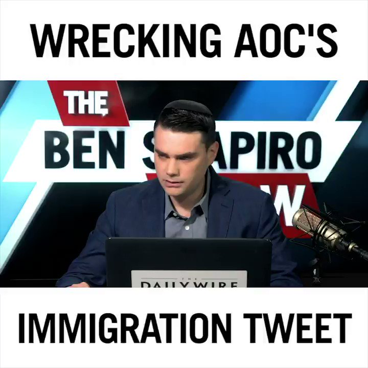 🎥 @BenShapiro reacts to AOC's latest cringe video where she compares immigration to the Holocaust. Ben explains why this is absurd and exposes her ignorance on the topic.   FULL VIDEO ==> https://www.youtube.com/watch?v=W_aiJF6pzoM …  LIKE & SUBSCRIBE for new videos everyday. http://bit.ly/2QA8RbN