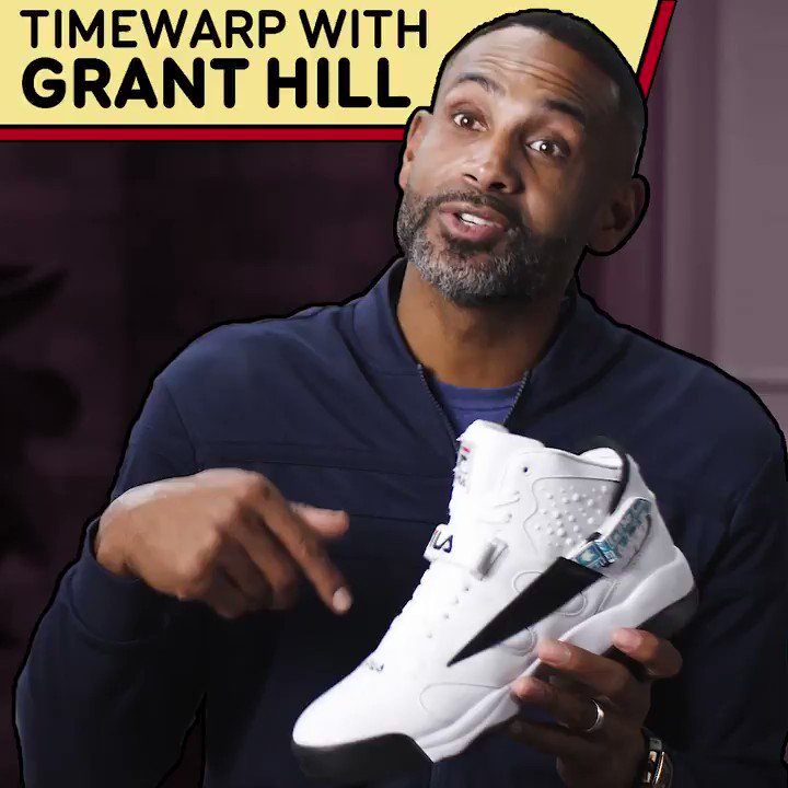 Grant Hill remembers his first poster in the league, down to the kicks he laced up 😤  (From @FILAUSA X B/R)