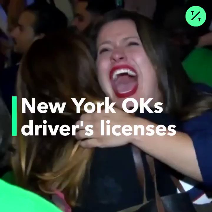 New York just passed a law allowing undocumented immigrants to get a valid driver's license.  DREAMer and assemblywoman @CatalinaCruzNY helped make it happen #GreenLightNY