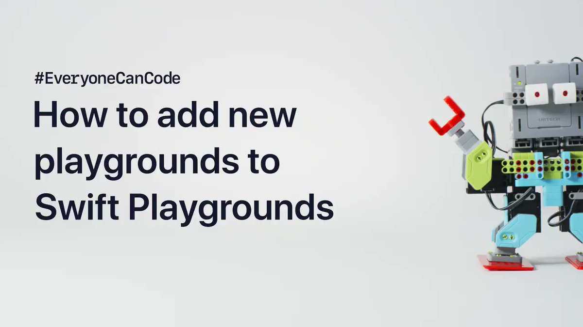 Robots. Sensors. Even drones. Subscribe to playgrounds from leading developers in #SwiftPlaygrounds and you can bring all these things to life with code. #EveryoneCanCode