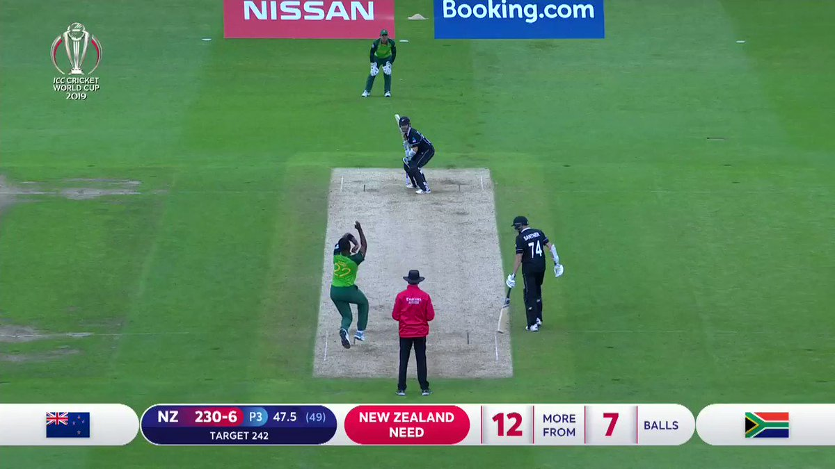 I was just looking for a single to be honest 😅 #KaneWilliamson talks through the ice-cool penultimate-over boundary which helped decide the fate of the #NZvSA thriller. #CWC19
