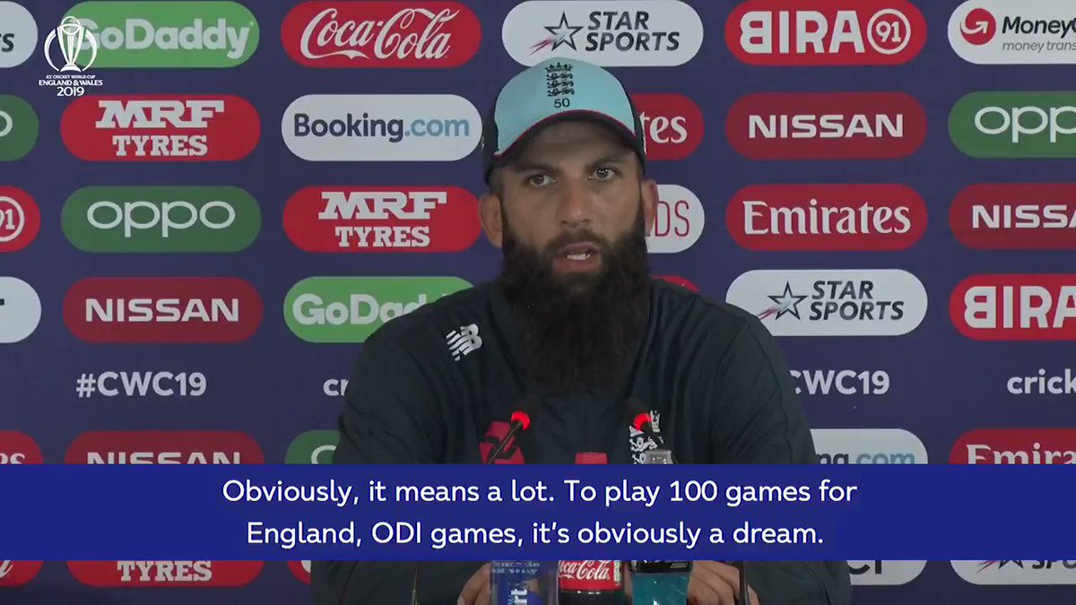 """""""Never ever thought in my wildest dreams that I would get close to it.""""Moeen Ali, who has played 99 ODIs, talks about the upcoming milestone ahead of #ENGvSL ⬇️"""