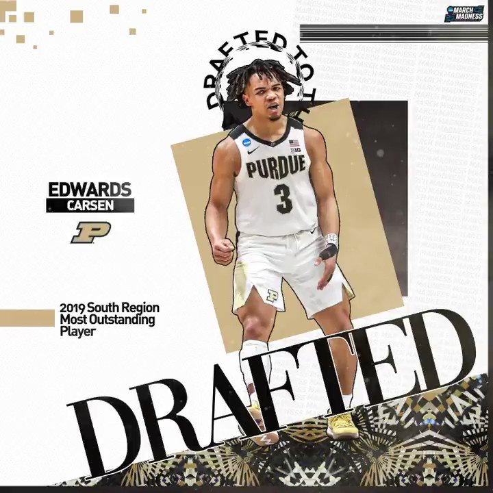 Carsen Edwards left his mark on #MarchMadness with @BoilerBall and will now take aim at the NBA!  Congrats to the South Region MOP on being drafted! #NBADraft