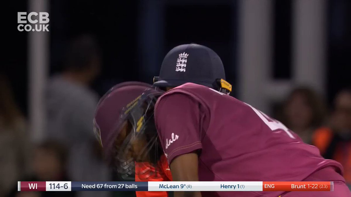 Well bowled, @KBrunt26 👌England on top now - West Indies are 117-7Match centre: http://ms.spr.ly/6018TKZK4 #EngvWI