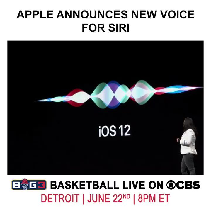 Siri got an upgrade... Where you gonna be when #BIG3Season3 goes down? http://big3.com/tickets/