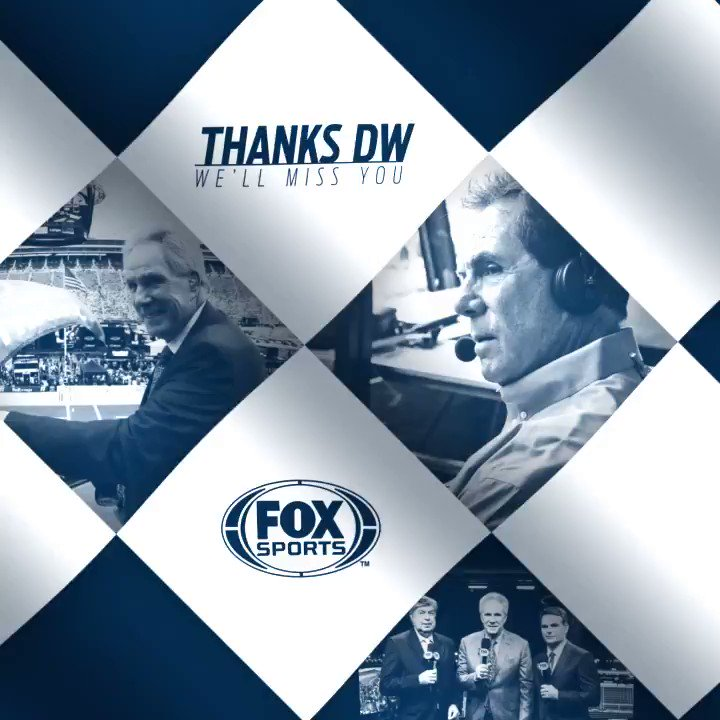 Sundays won't be the same. It has been an honor to work with you for 19 years, @AllWaltrip.  #ThanksDW, from all of us at FOX Sports.