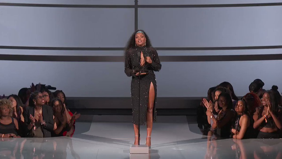 .@TheRealTaraji presents @TylerPerry with the Ultimate Icon Award! #BETAwards