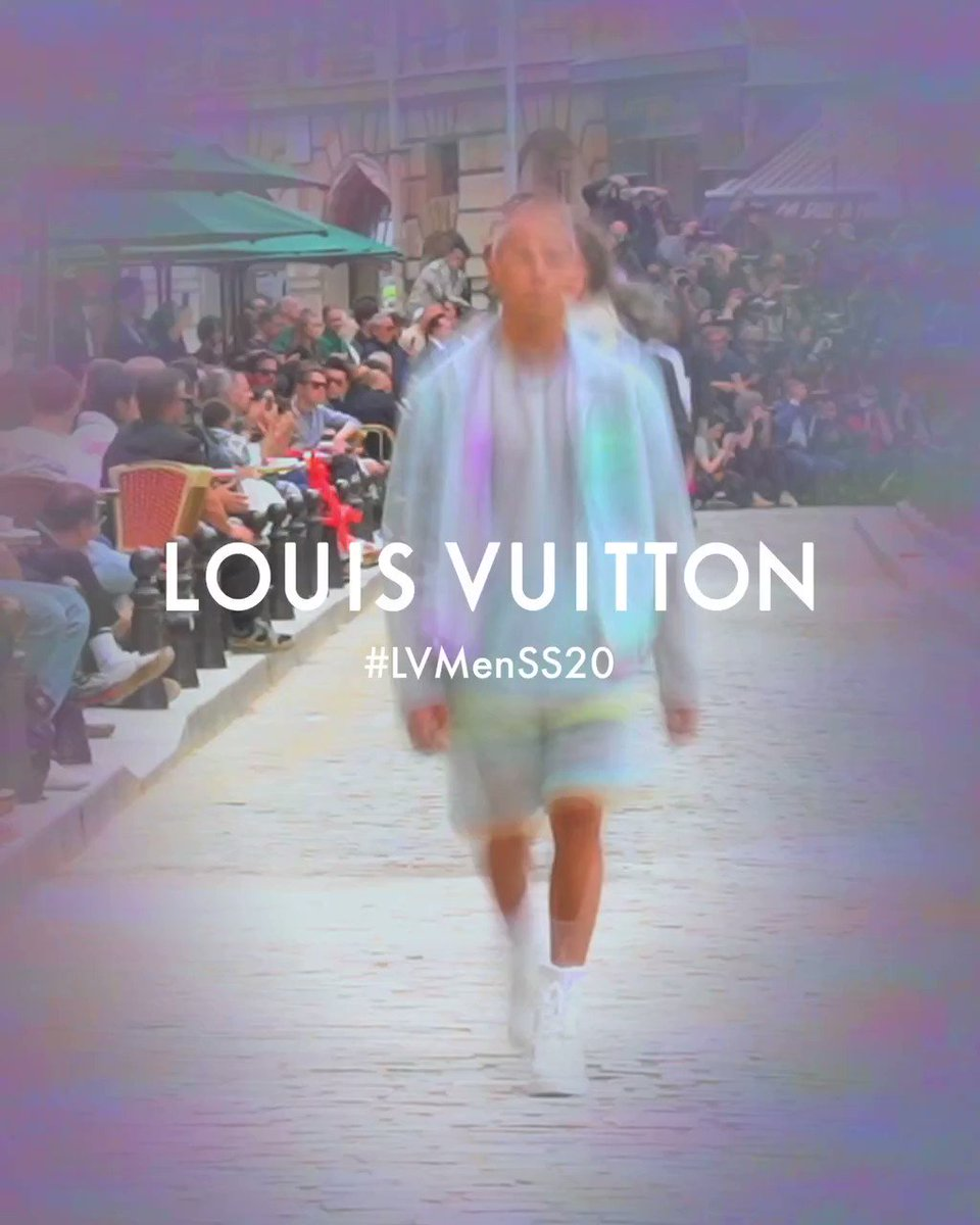 #LVMenSS20 Multicolored and multilayered. Translucent tulle on looks from #VirgilAbloh's latest #LouisVuitton Collection. Watch the show on Twitter or at http://on.louisvuitton.com/6014ESRKr