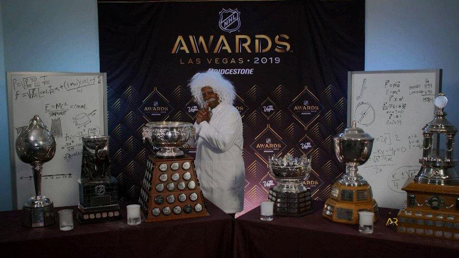 ICYMI: Dr. Gary ManBett III, Ph.D (@kenanthompson) broke down the #NHLAwards trophies! 🏆
