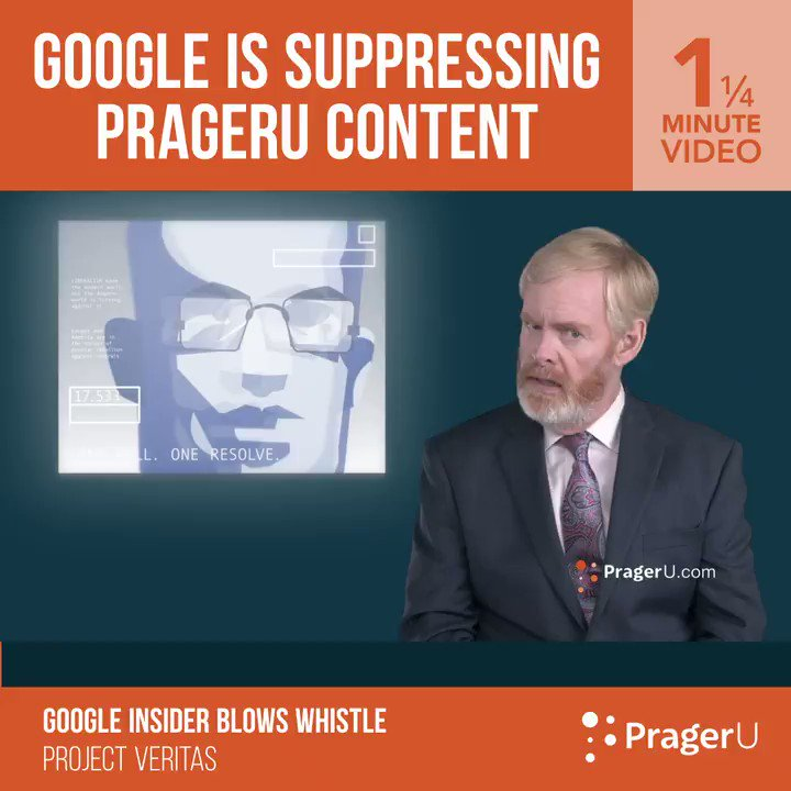 BREAKING: Dennis Prager will be testifying before the U.S. Senate today regarding Big Tech censorships war on free speech. This expose by @Project_Veritas shows how @Google is suppressing PragerU content.