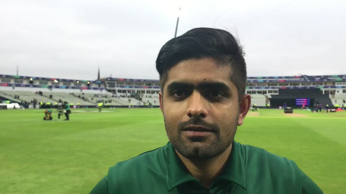 Babar Azam is a happy man right now!#CWC19 | #NZvPAK | #WeHaveWeWill