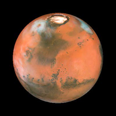 #HubbleClassic Hubble captured this view of Mars between April 27 and May 6, 1999, when the Red Planet was about 54 million miles from Earth. Surface features as small as 12 miles across are visible, including craters, volcanoes, and a storm churning near the north polar ice cap.