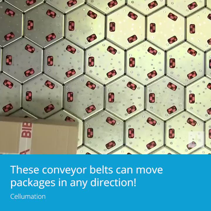 These conveyor belts can move packages in any direction.