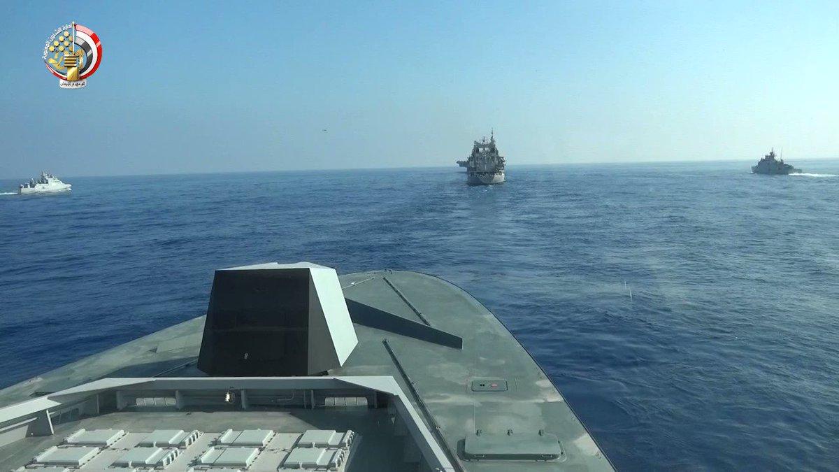 """#المتحدث_العسكرى : ختام فعاليات التدريب البحرى الجوى المشترك """" رمسيس 2019 """""""