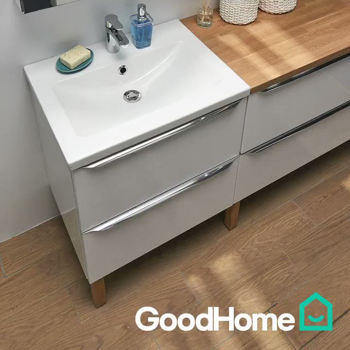 B Q On Twitter Our Goodhome Imandra Vanity Unit Is Big Enough To Fit Your Towels And Everything Else Https T Co Ym7ksoak4z