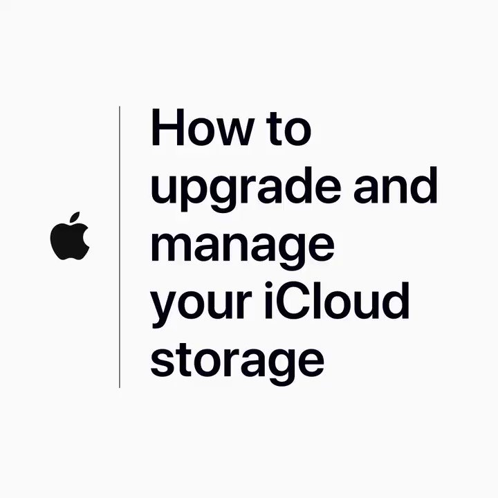 iPhone warning that you're low on storage? You've got options. Here's how to upgrade and manage your iCloud storage: https://apple.co/2xqtfDi