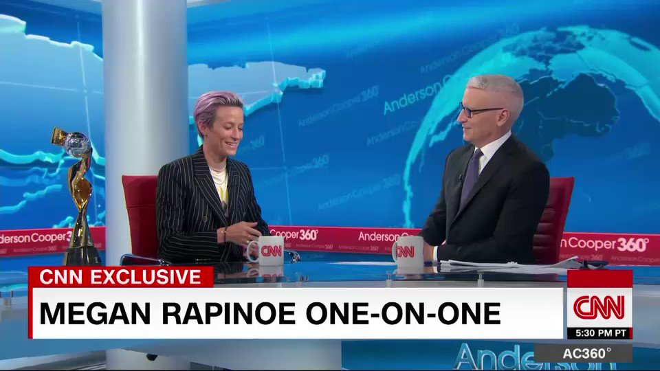 Megan Rapinoe says kneeling during the National Anthem was difficult, but not disrespectful, adding that she is hopeful there will be a day when she will not feel the need to kneel  https://cnn.it/2XWK9bx