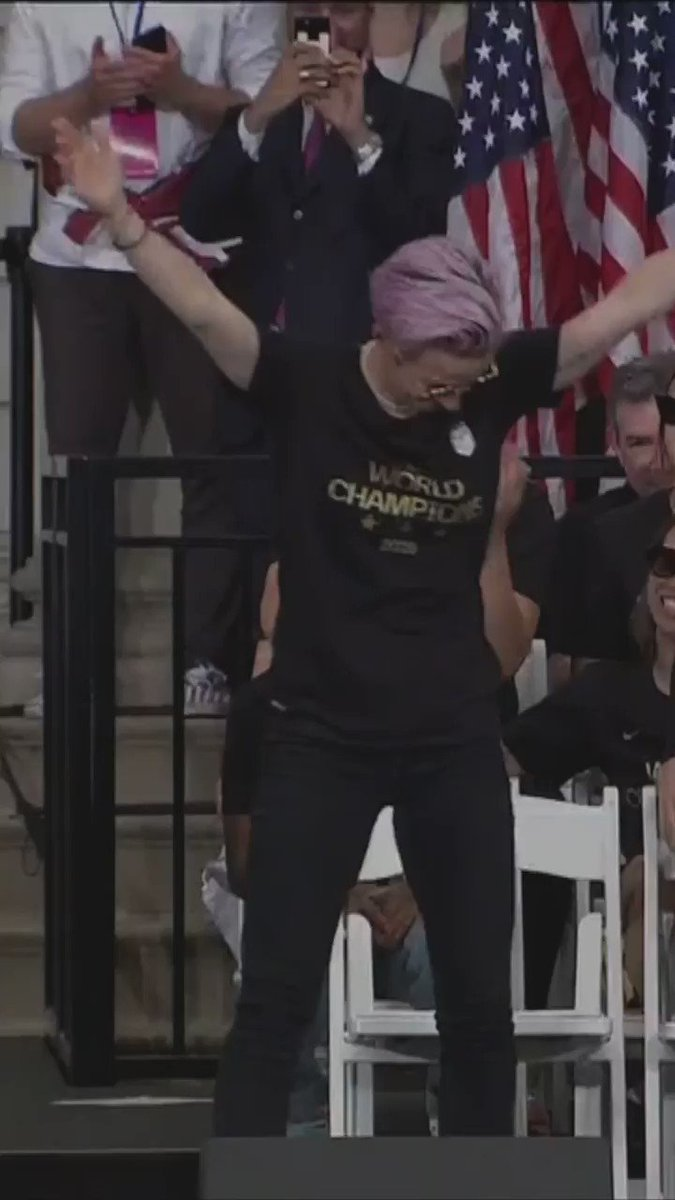 Megan Rapinoe shared an empowering message at the World Cup champions parade[Tap to expand]https://bbc.in/2Jsguim #USWNTparade