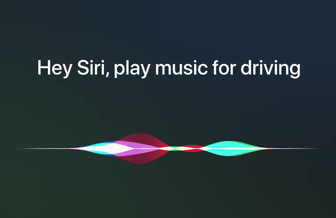 """You've played all your favorite albums and you still have two hours to drive. Just say, """"Hey Siri, play some driving music,"""" so you can keep your eyes on the road and hands on the wheel."""