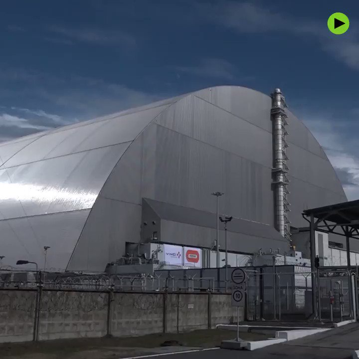 #Chernobyl's new dome to prevent further radioactive material leaking out over the next century.