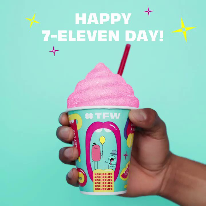 It's still 7-Eleven Day, Slurpeeps! 4get literally everything else and pop by for a free small Slurpee, today only! 11am to 7pm. #slurplife #7ElevenDayhttp://spr.ly/6013EvGmD
