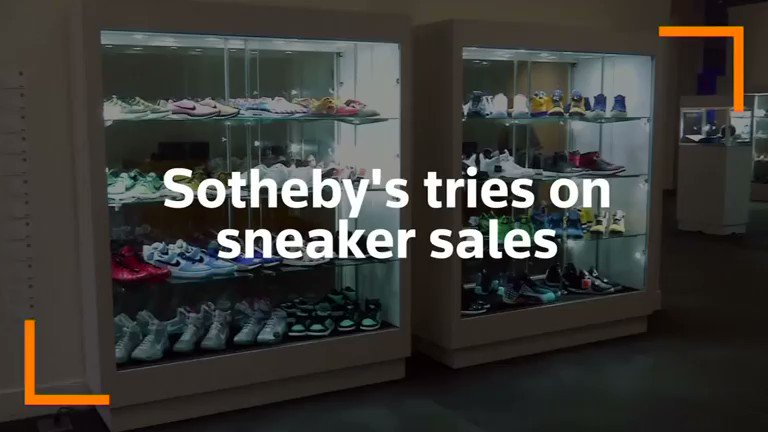 Sotheby's holds first-ever rare sneaker auction. For more: https://reut.rs/32mmO2n