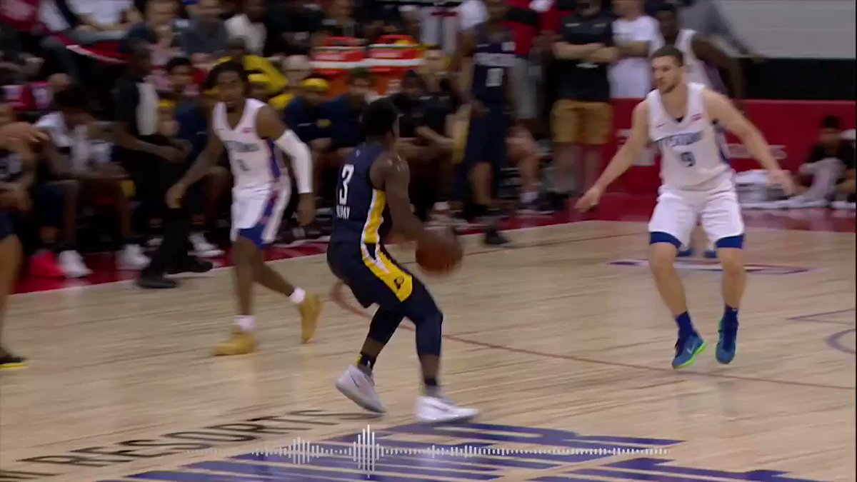 Sound up with @The_4th_Holiday of the @Pacers, before they play today at 8:30pm/et on @NBATV! #NBASummer